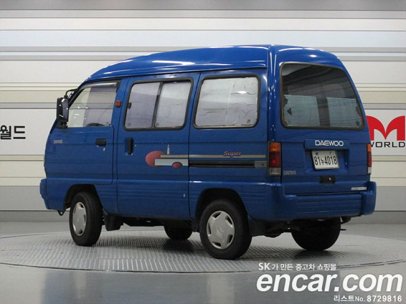 Used Cars 1999 GM Daewoo Damas LPG 5-Seater Glass-Van Super for ...