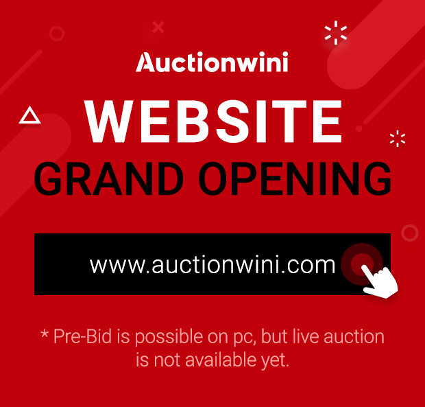 auctionwini WEBSITE GRAND OPENING, www.auctionwini.com, Pre-Bid is possible on pc, but live auction is not available yet.